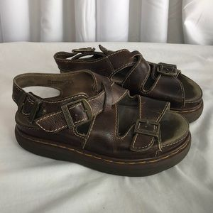 Dr Martens Brown Made in England Sandals 7